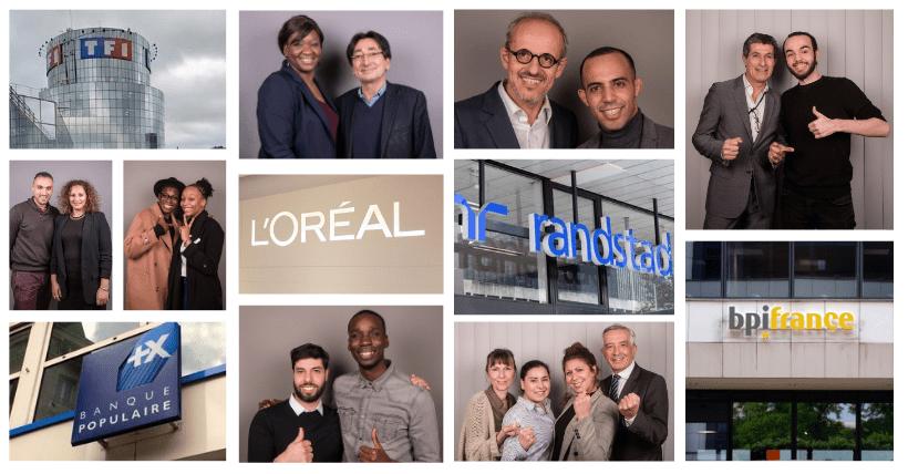 Nos 120 entrepreneurs parrainés par TF1, L'Oréal, Randstad, Bpifrance et Banque Populaire